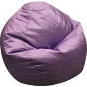 Elite Classic Medium Faux Silk Bean Bag Chair, Lilac