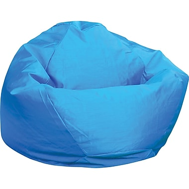 Elite Classic Medium Faux Silk Bean Bag Chair, Blue