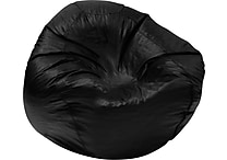 Elite Classic Medium Vinyl Bean Bag Chair, Black