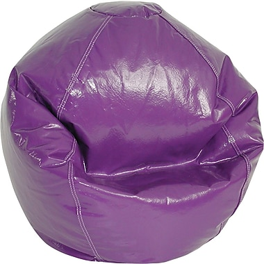 Elite Wetlook Junior Vinyl Bean Bag Chair, Grape