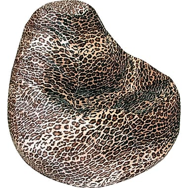 Elite Fabric Bean Bag Chair, Leopard Print
