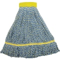 O'Dell Microfiber String Mop Head, 5in. Headband, 14 oz., Blue/Yellow