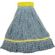 "O'Dell® Microfiber String Mop Head, 5"" Headband, 14 oz., Blue/Yellow"