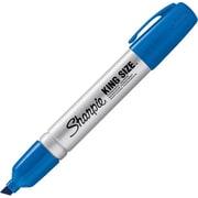 Sharpie® King Size™ Chisel Tip Permanent Markers, Blue, Dozen