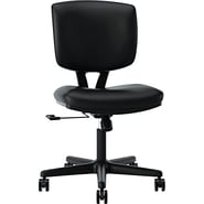 HON Volt Armless Task/Computer Chair for Office and Computer Desks, SofThread Leather
