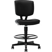"HON® Volt® 32"" Task Stool, Black SofThread™ Leather (HON5705SB11T)"