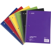 "Staples® 1 Subject Notebook, 8"" x 10-1/2"", 6/Pack"