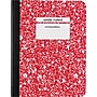 Staples® Composition Notebook, Wide Ruled, Red, 9-3/4 x