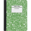 Staples® Composition Notebook, Wide Ruled, Green, 9-3/4in. x 7-1/2in.