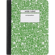 "Staples® Composition Notebook, Wide Ruled,  9-3/4"" x 7-1/2"", Green"