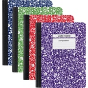 "Staples Wide Rule Composition Book, Assorted Colors, 9-3/4"" x 7-1/2"", Each (20702M-CC)"