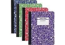 Staples Wide Rule Composition Book, Assorted Colors, 9-3/4' x 7-1/2', Each (20702M-CC)