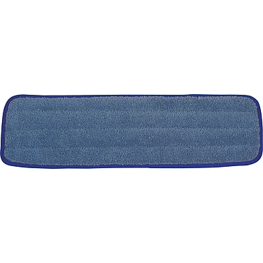 O'Dell Economy Flat Microfiber Wet Pad, 18 x 5in., Blue