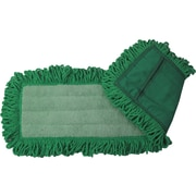"O'Dell® Microfiber Dry Dust Mop Pad, 24"" x 5"", Green"