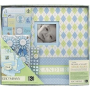 K&Company® Postbound Scrapbook Kit Boxed, Little House Baby Boy,  12 X 12