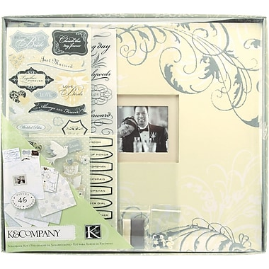 K&Company® Postbound Scrapbook Kit Boxed, Classic Wedding, 12