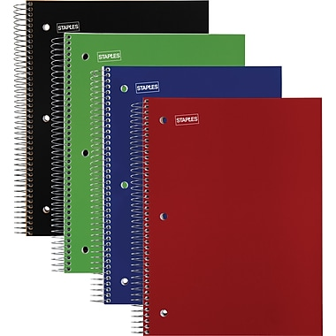 Staples 5 Subject Notebook, 8-1/2