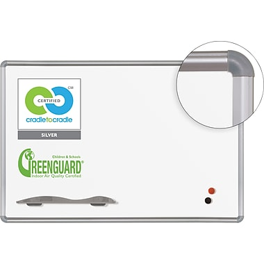 Best-Rite Green-Rite® Dry-Erase Porcelain Board with Silver Presidential Trim