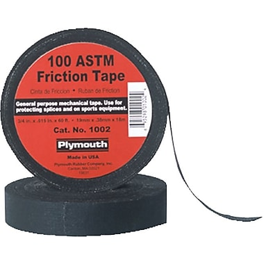 Polyken® 60 ft (L) Black Rubber Base Friction Tape, 0.015 mil (T), 3/4 in (W)