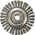 ANDERSON® 4 in (OD) 3/16 in (W) Face STCM Series Knot Wire Wheel Brush, 0.02 in Wire, Steel