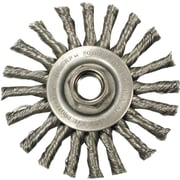 ANDERSON® 4 in (OD) 3/8 in (W) Face Series TC Knot Wheel Brush, 0.02 in Wire, Steel