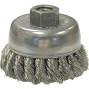 ANDERSON® 0.02 in (Dia) x 1 in (L) CS Wire USC80 20 Knot Cup Brush, 5/8-11, 2 3/4 in (Dia)