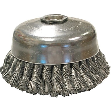 ANDERSON® 0.02 in (Dia) x 1 3/8 in (L) CS Wire US6 38 Knot Cup Brush, 5/8-11, 6 in (Dia)