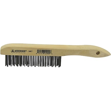 ANDERSON® Shoe Wood Handle SS Bristle Hand Scratch Brush, 1 1/8 in (L) Trim