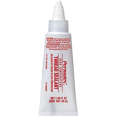 Permatex® -65 to 400° F Range High Temperature Thread Sealant, 50 ml Tube, White Opaque