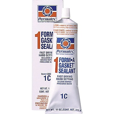 Permatex Form-A-Gasket® Red-Brown Paste No. 1 Hard-Setting Gasket Sealant, 11 oz Tube