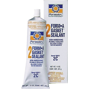 Permatex Form-A-Gasket® Black Paste No. 2 Non-Hardening Slow Dry Flexible Cure Gasket Sealant, 3 oz Tube