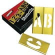 C.H. Hanson® 45 pcs Brass Interlocking Letter & Number Stencil Set, 2 in
