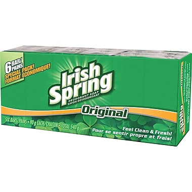Irish Spring Deodorant Soap, Original 6-Pack