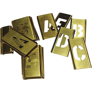 C.H. Hanson® 33 pcs Brass Single Letter Stencil Set, 3 in