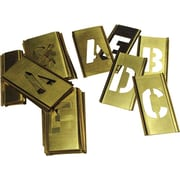 C.H. Hanson® 33 pcs Brass Single Letter Stencil Set, 2 in
