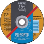 PFERD 4 1/2 in (OD) x 1/4 in (T) 27 Depressed Center AO Grinding Wheel, 24 (Coarse), 7/8 in Arbor