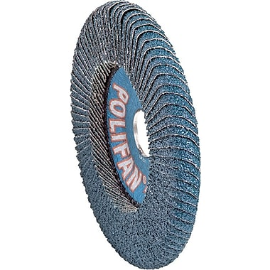 POLIFAN® 5 in (OD) 9/16 in (T) 29 Medium ZA Flap Disc, 40 (Medium), 7/8 in Arbor