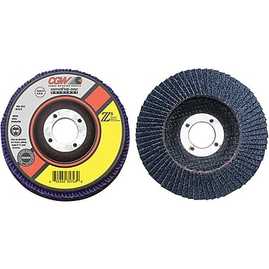 CGW® 4 in Regular 27 Depressed Center ZA Flap Disc, 40 (Medium), 5/8 in Arbor