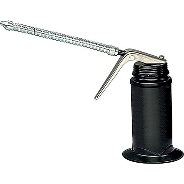 Plews® Rugged Epoxy Drawn Steel 6 in Flexible Spout 1/4-28 Base Thread Pistol Oiler, 6 oz.