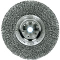 Trulock™ 8 in (OD) 5/8 in (W) Face Narrow-Face Crimped Wire Wheel Brush, 0.014 in Wire, Steel