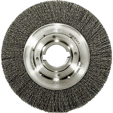 Trulock™ 8 in (OD) 1 in (W) Face Medium Face Crimped Wire Wheel Brush, 0.014 in Coarse, Steel