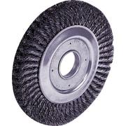 Dualife® 10 in (OD) 1 1/4 in (W) Face Standard Twist Knot Wire Wheel Brush, 0.016 in Wire, Steel