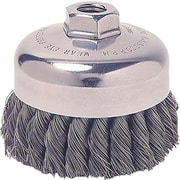 Weiler® 0.02 in (Dia) x 1 1/4 in (L) CS Wire SR-3 Knot Cup Brush, 5/8-11, 3 1/2 in (Dia)