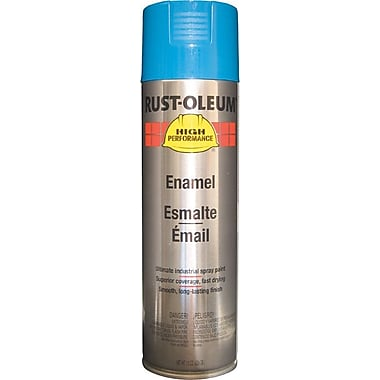 HIGH PERFORMANCE®Aerosol Can Rust-Preventative Enamel, Acrylic, Safety Blue, 15 oz.