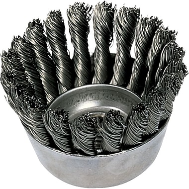ADVANCE BRUSH 0.02 in (Dia) x 7/8 in (L) CS Wire Mini 18 Knot Cup Brush, 5/8-11, 2 3/4 in (Dia)