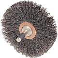Weiler® 2 in (OD) 3/8 in (W) Face Crimped Conflex Brush, 0.006 in Wire, Steel