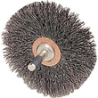 Weiler® 2 in (OD) 3/8 in (W) Face Crimped Conflex Brush, 0.0118 in Wire, Steel