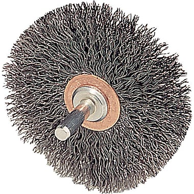 Weiler® 3 in (OD) 1/2 in (W) Face Crimped Conflex Brush, 0.0118 in Wire, Steel
