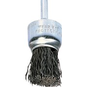 Advance Brush 1/4 in Stem 0.006 in (Dia) x 1 in (L) SS Wire Crimped End Brush, 1 in (Dia)