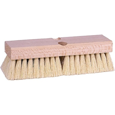 Weiler® Wood Handle Polypropylene Bristle Deck Scrub Brush